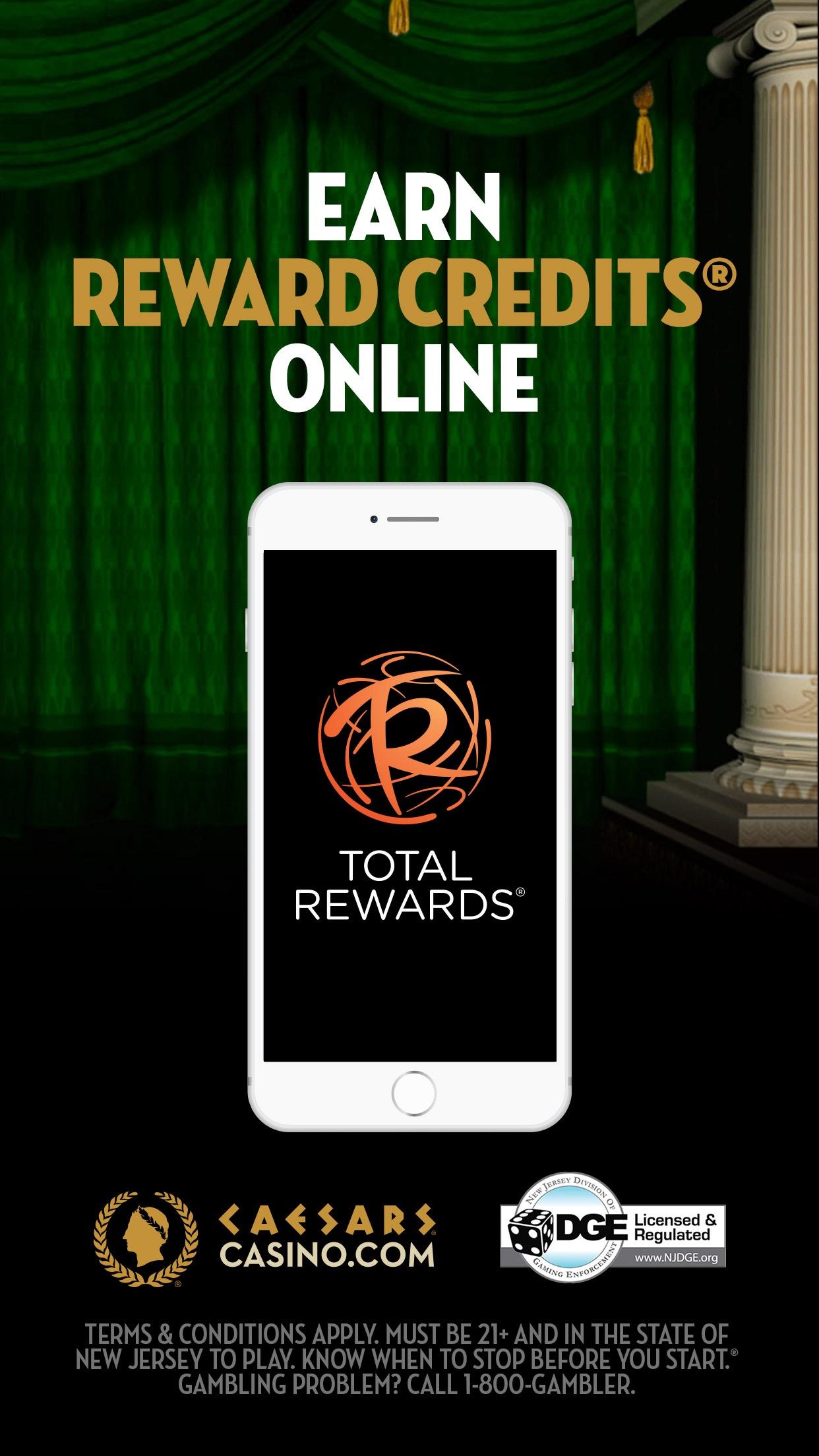 Caesars Real Money Casino NJ Screenshot