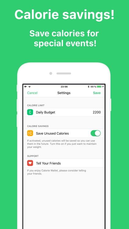 Calorie Wallet screenshot-3