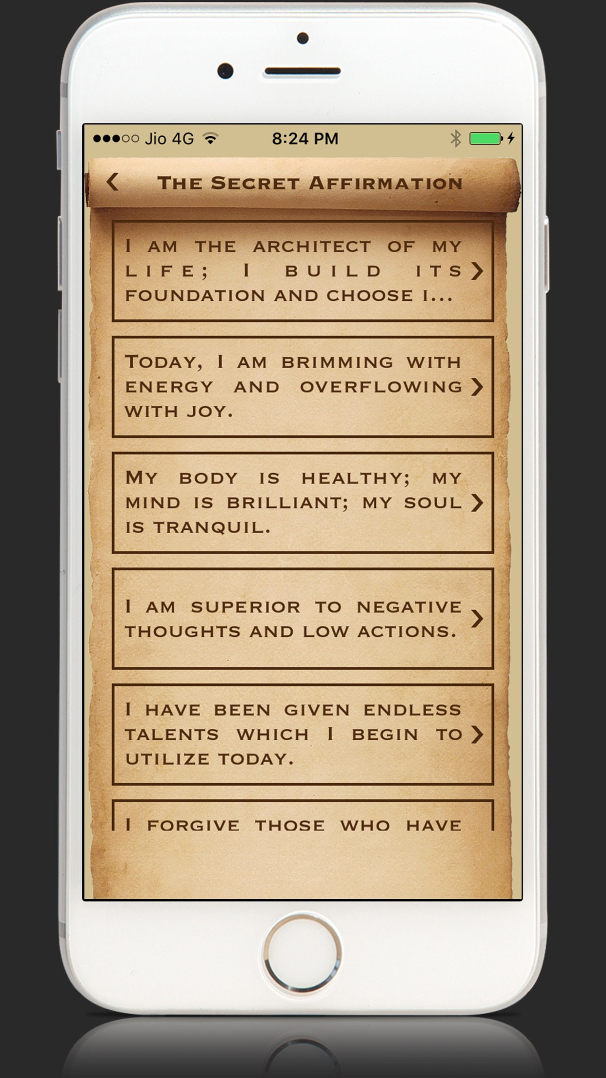 The Secret Affirmations Money Screenshot