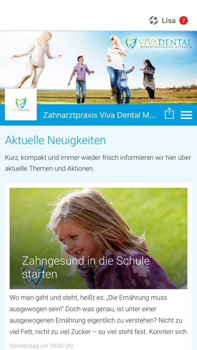 Zahnarztpraxis Viva Dental screenshot one