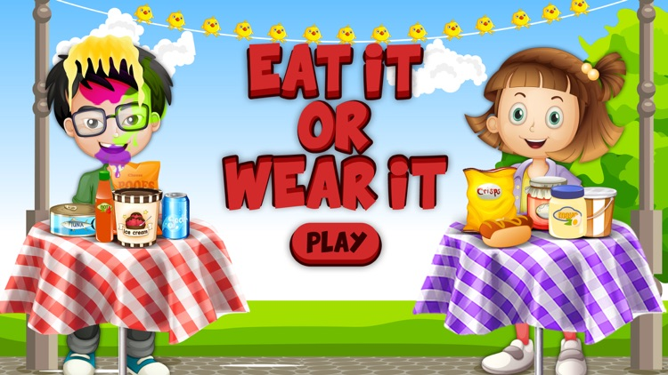 Eat It Or Wear It Challenge! A Food Challenge Game