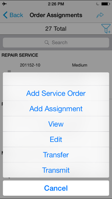 SAP CRM Service Manager Screenshot on iOS