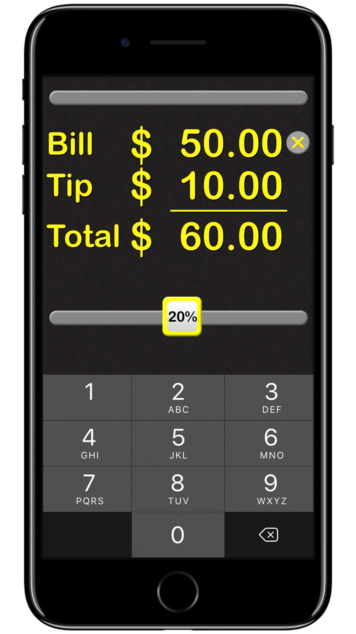 Tip Calculator‰ Screenshot