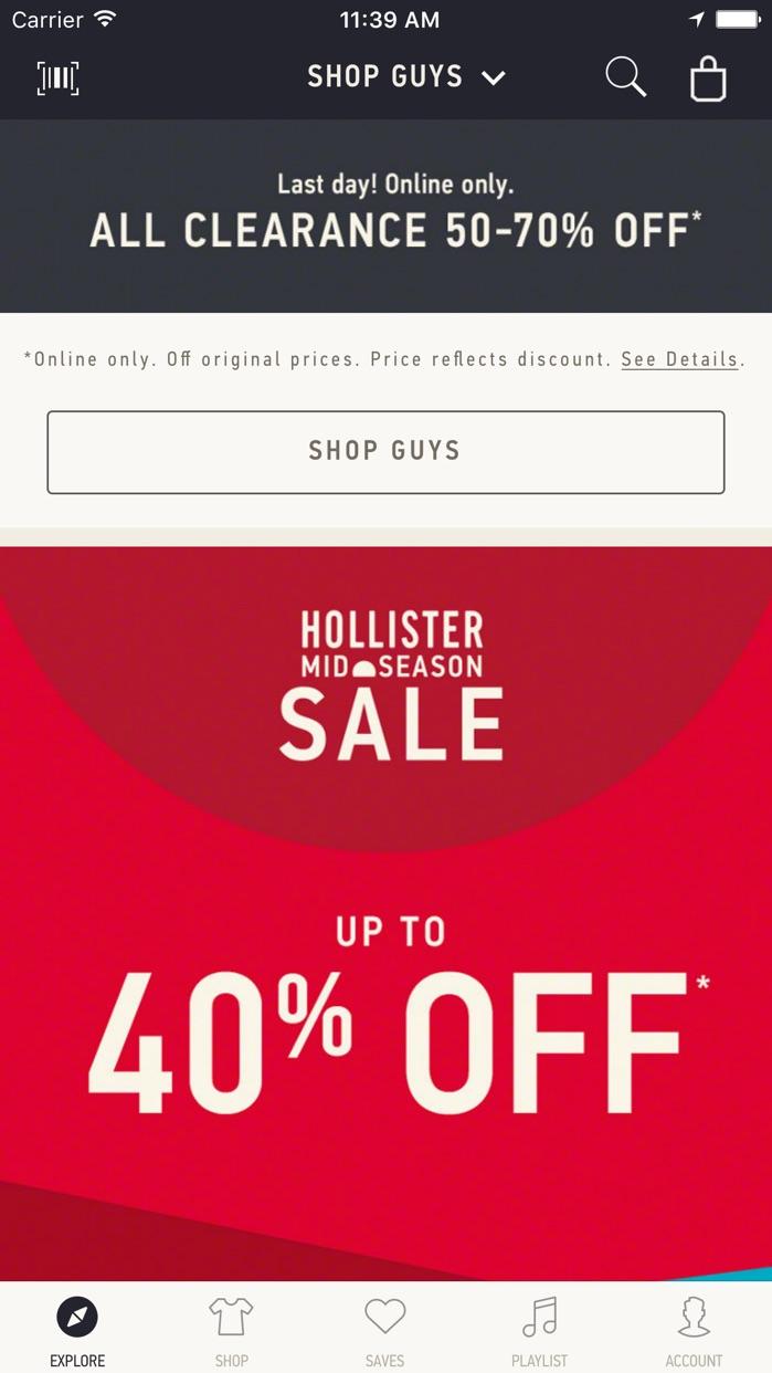 Hollister So Cal Style Screenshot