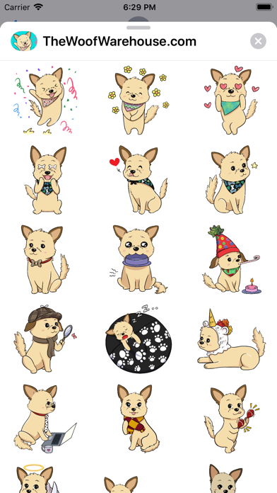 Dog Stickers by Woof Warehouse screenshot 3