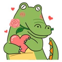 Cute Crocodile Emoji Sticker