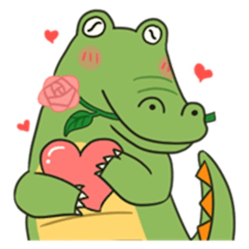 Cute Crocodile Emoji Sticker