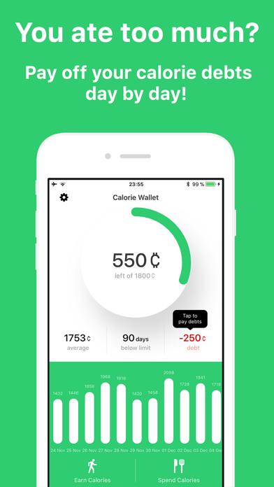 Calorie Wallet Screenshots