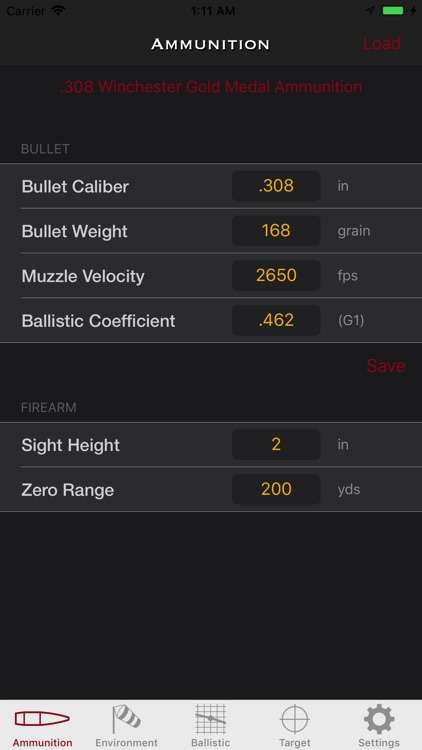 SBC - Ballistic calculator