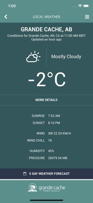 grande cache weather