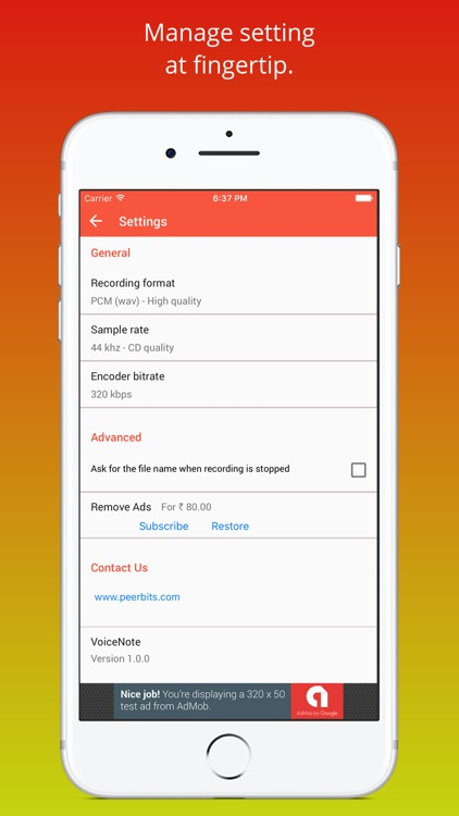 Voice Recorder - A Recorder App screenshot-4