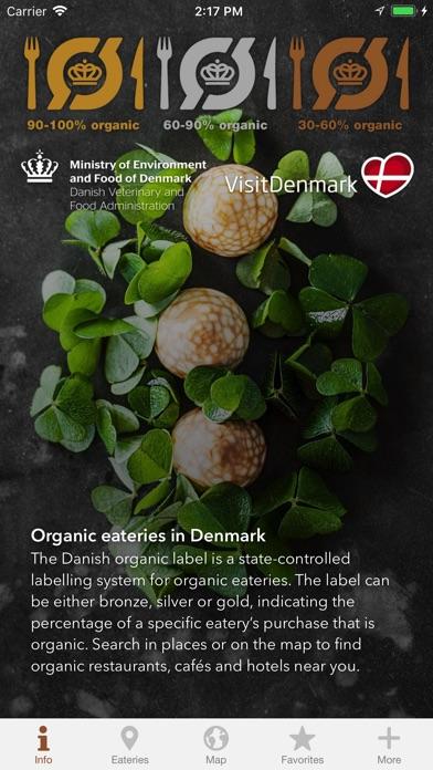 Organic eateries in Denmark screenshot 1
