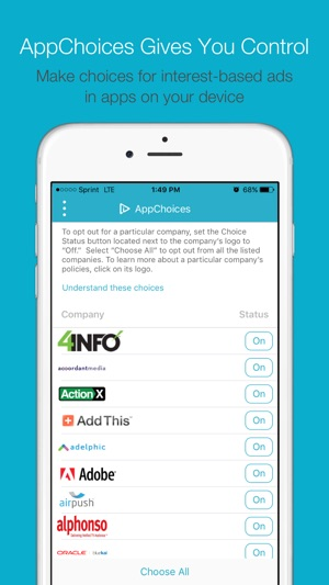 AppChoices on the App Store