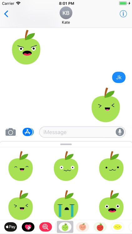 Cute Green Apple Stickers screenshot-3