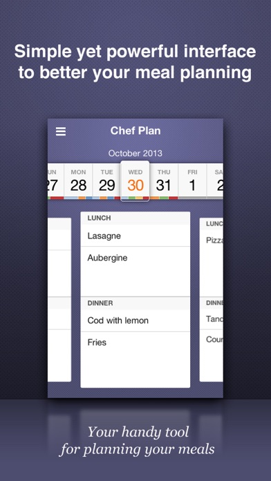 Chef Plan review screenshots