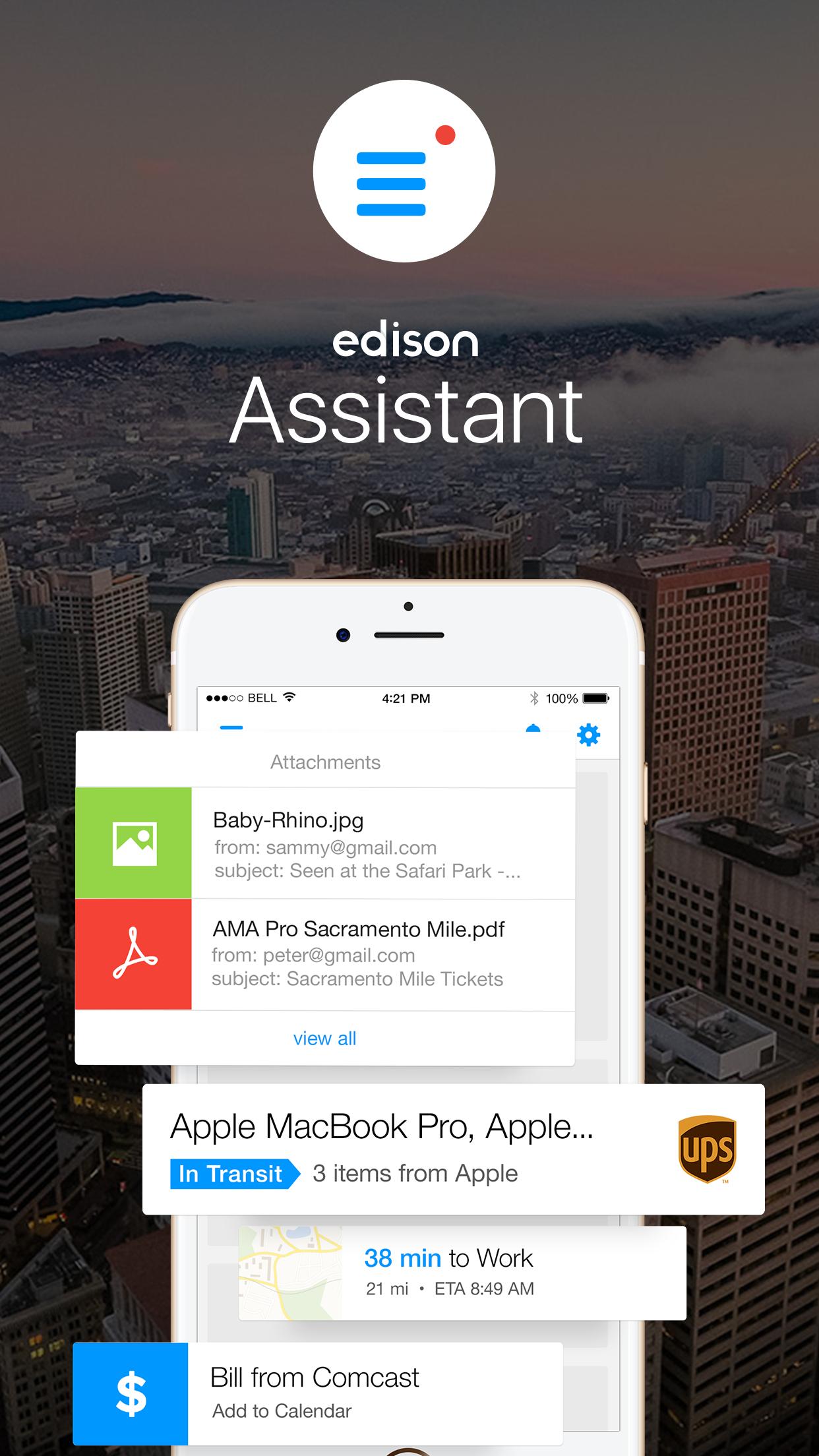 Edison Assistant Screenshot
