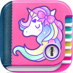 Unicorn Secret Diary with Lock