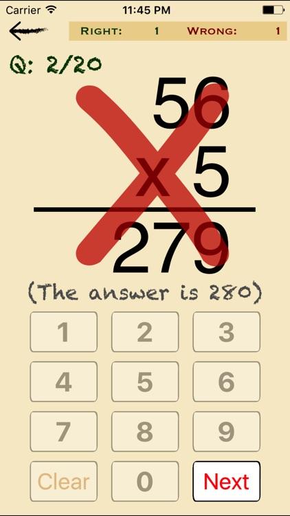 Mental Math Cards Challenge