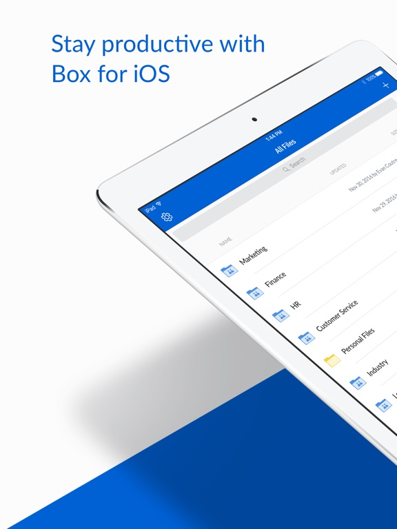 Screenshot #1 for Box for iPhone and iPad