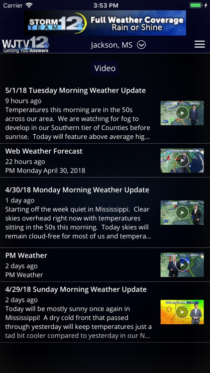 WJTV Weather screenshot-3