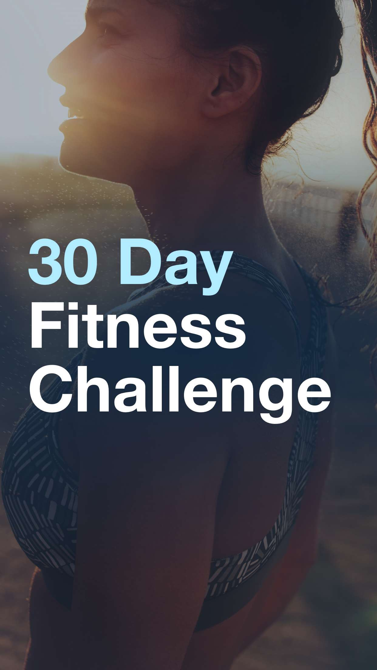 30 Day Fitness Challenge Log Screenshot