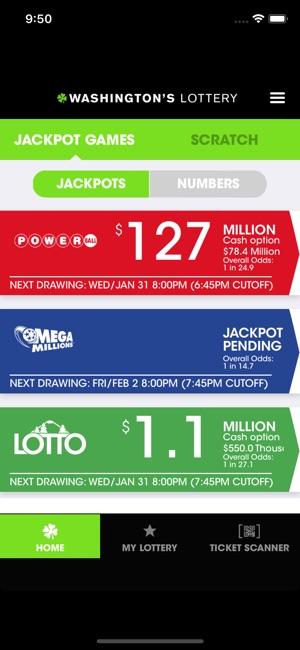 Washington's Lottery en App Store