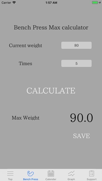 Bench press Max Calculator