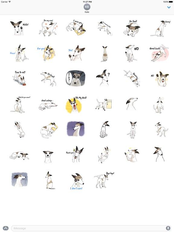 Snap Dog - Whippetmoji Sticker screenshot 4