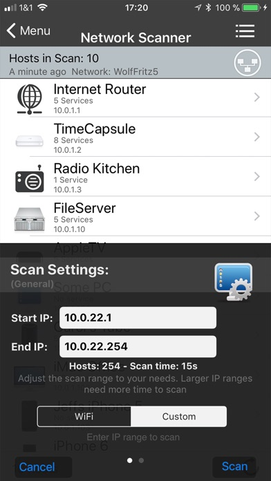 iNet Pro - Network Scanner Screenshot on iOS