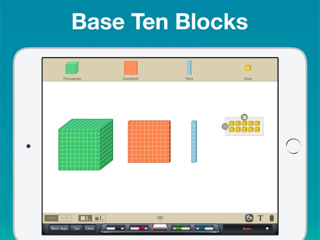 how to draw a ten thousand block