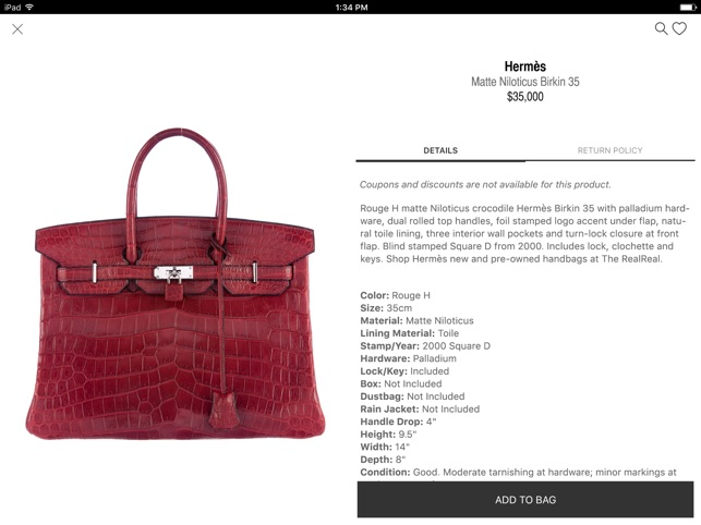 The RealReal - Buy+Sell Luxury on the App Store d17519a0b02d2