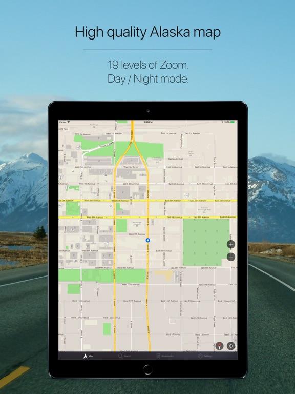 Alaska, USA Offline Navigation-ipad-1