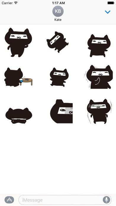 Animated Ninja Cat Sticker screenshot 2
