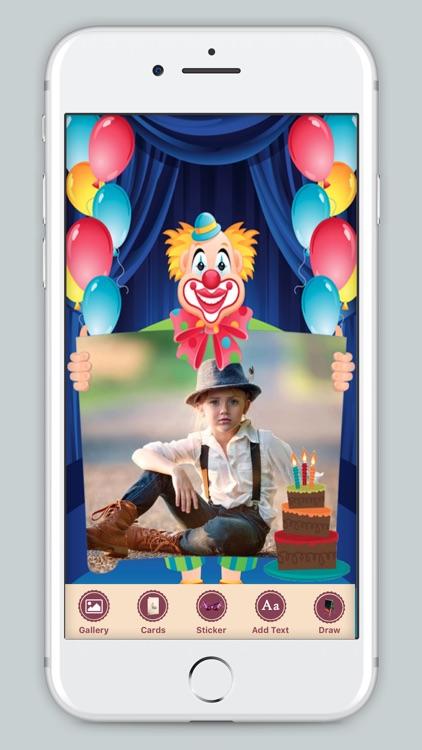 B'day Celebration Card Photo Frame