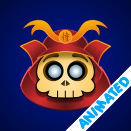 Cute Samurai Skull (animated)