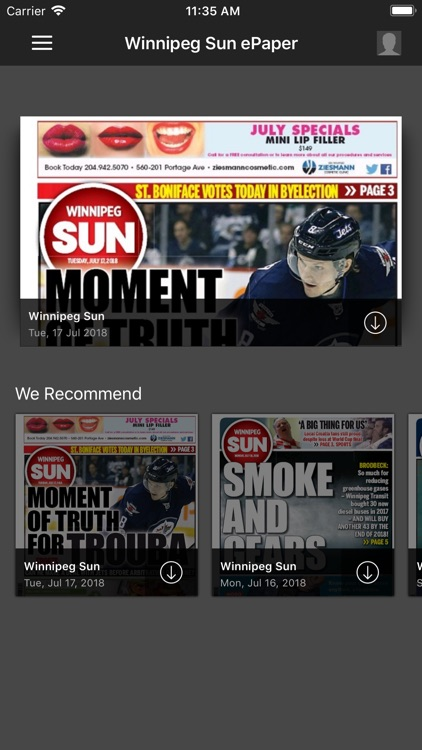 Winnipeg Sun ePaper screenshot-0
