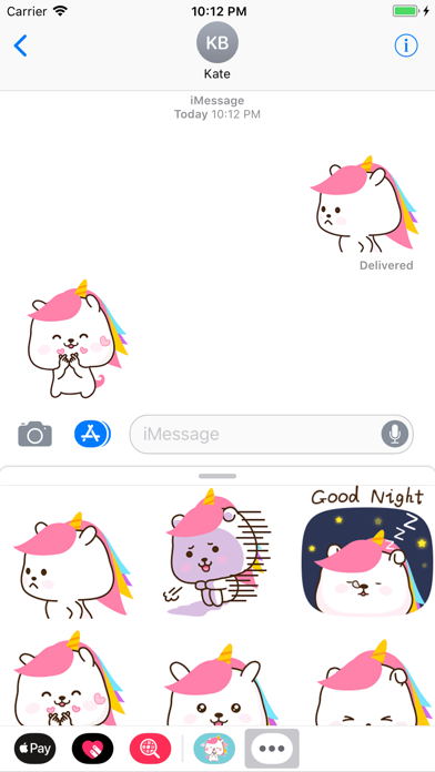 Bunnycorn Animated Stickers screenshot three