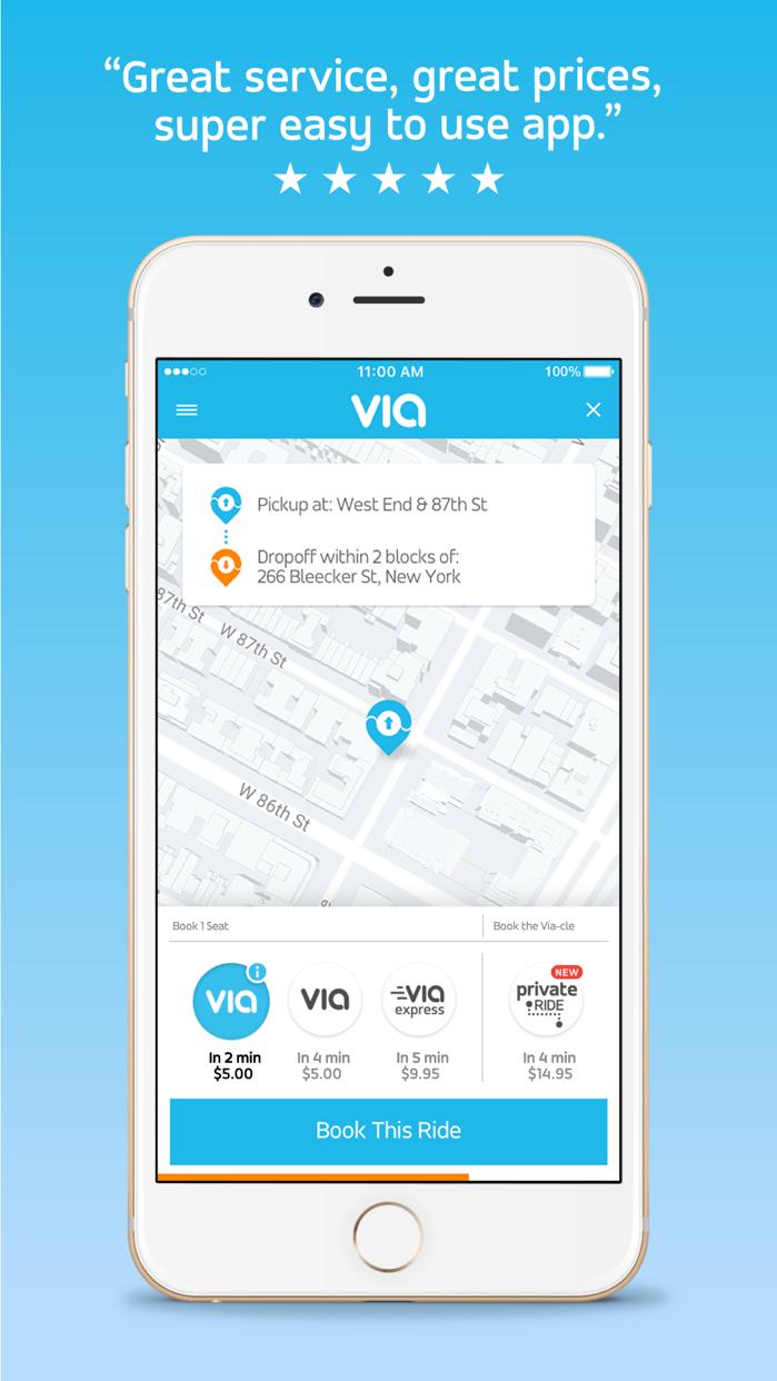 Via - Affordable Ride-sharing Screenshot