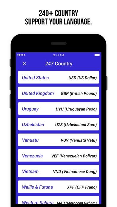 貨幣匯率 - 計算200+國家屏幕截圖3