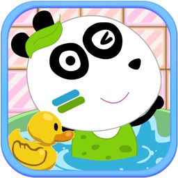 Baby Panda Love Bathing