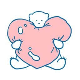 Polar Bear Bearmoji Sticker