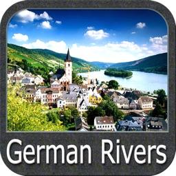 German rivers GPS nautical map
