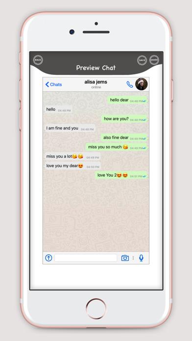 WhatsUp Prank Chat screenshot two