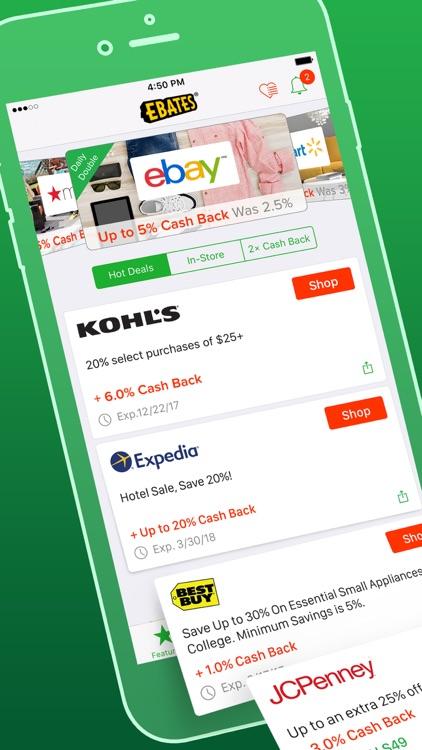 Ebates: Cash Back & Rewards screenshot-0