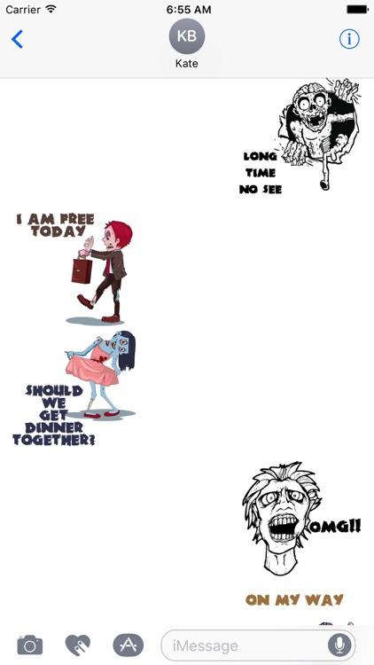 Zombie Talk Sticker Pack