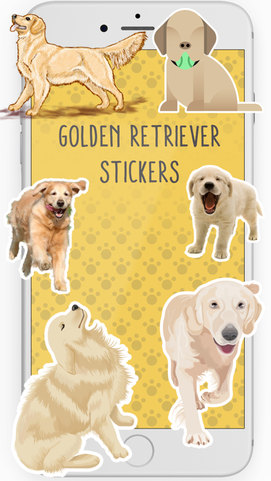 Golden Retriever Stickers screenshot one