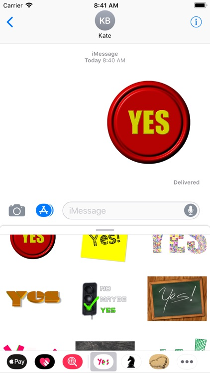 Yes sticker pack
