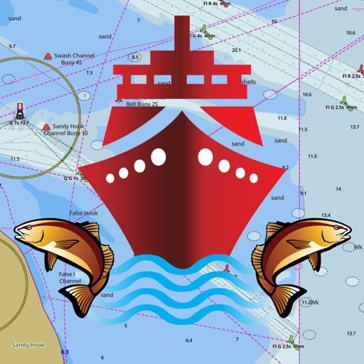 i-Boating: морские карты речное рыболовство Карта