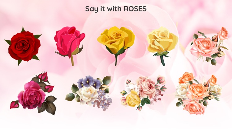 Romantic Roses Sticker Wishes
