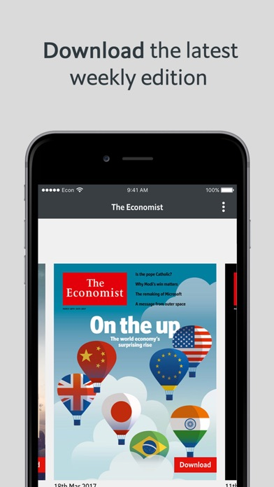 The Economist: US & World News app image
